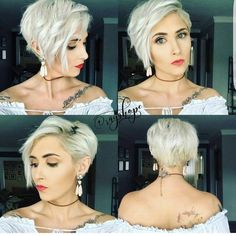 "How to style the Pixie cut? Despite what we think of short cuts , it is possible to play with his hair and to style his Pixie cut as he pleases. For a hairstyle with a ""so chic"" and pointed… Continue Reading → New Short Haircuts, Trendy Haircuts, Asymmetrical Haircuts, Long Asymmetrical Pixie, Pixie Haircut Layered, Asymetrical Short Hair, Pixie Haircut Long, Bob Haircuts, Brünetter Pixie"