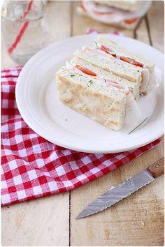 Sandwich de pain polaire au jambon de la mer