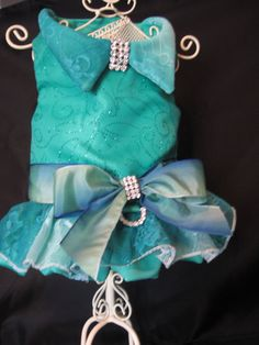 Harness dress in a gorgeous jade color with lots of sparkle on Etsy, $65.00