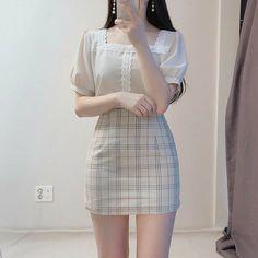 Korean Girl Fashion, Korean Fashion Trends, Ulzzang Fashion, Korea Fashion, Asian Fashion, Kawaii Fashion, Cute Fashion, Look Fashion, Kpop Outfits