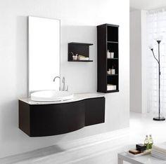 Espresso Bathroom Vanity Shapes