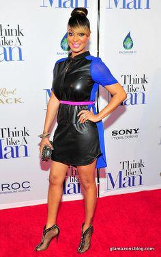 Lala Anthony wears a high bun to the Think Like A Man Atlanta Premiere