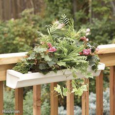 Railing-Mounted Deck Planter