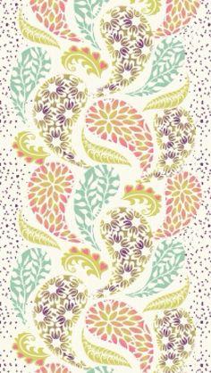 ☮ American Hippie Art Pattern Design Wallpaper ~ Paisley