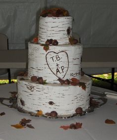 tree bark wedding cake by Kasey\'s Kreations in Salem Oregon | Our ...