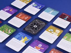 Onboarding Game Cards designed by Kathrin Aigner for Dynatrace. Connect with them on Dribbble; Game Card Design, Board Game Design, Tabletop Games, Custom Cards, Deck Of Cards, Games To Play, Game Art, Card Games, Projects