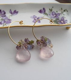 Hey, I found this really awesome Etsy listing at https://www.etsy.com/listing/522251519/mixed-gemstone-24k-gold-filled-hoop