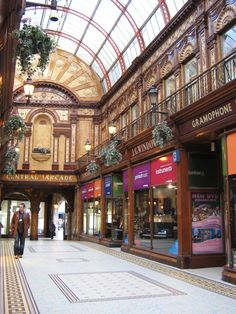 Central Arcade - Newcastle Upon Tyne.  Victorian shopping arcade.  Had a great music shop where we used to come for our piano exams!