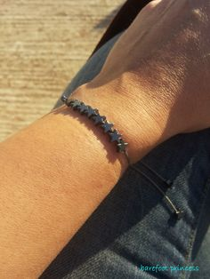 """sky full of stars"" bracelet in hematite"