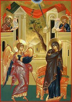 The Annunciation Print by Daniel Neculae