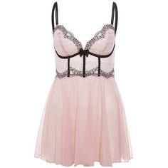 DKNY Intimates SEDUCTIVE LIGHTS Nightie hush pink/black ($55) ❤ liked on Polyvore featuring intimates, sleepwear, nightgowns, dresses, lingerie, pajamas, pink, rose, dkny sleepwear and pink nightie