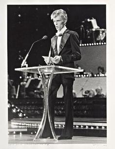David Bowie David Bowie-Grammy Show NYC,1975 | gelatin silver print.                                                                                                                                                                                 More