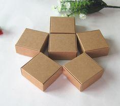 50pk 4x4x2inch Cake Box Box Natural (shabby Chic)
