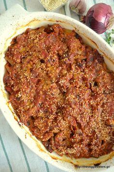 Καπακωτή - The Veggie Sisters Paleo Recipes, Chili, Sisters, Veggies, Soup, Beef, Vegan, Meat, Vegetable Recipes