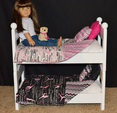 3 Stacking Beds - Triple Bunk With Mattresses Made To Fit American Girl Dolls Or…