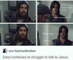 Daryl and Jesus #Darus #Desus