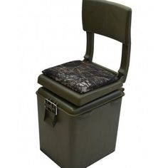 Hunting Blind Chair Ice Fishing Insulated Cooler Seat Swivel Folding Storage