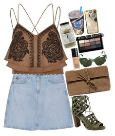 """""""❤"""" by polinachaban ❤ liked on Polyvore featuring AG Adriano Goldschmied, River Island, G by Guess, LULUS, Dolce&Gabbana, Gucci, Dr. Jackson's, Bobbi Brown Cosmetics and Skinnydip"""