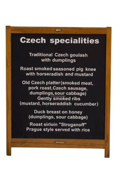 "Czech traditional food features meat, mushrooms, and vegetables. Enjoy potato soups, roast pork, and a variety of delicious desserts. Czech food may be considered ""heavy"" to Western palettes, but this also means that it is heavy on good flavors."
