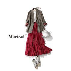 女っぷりミリタリーJKコーデからあか抜けJKコーデまで【アラフォー春の1週間コーデ】|Marisol ONLINE|女っぷり上々!40代をもっとキレイに。