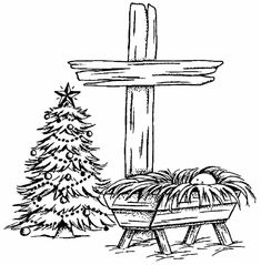 Cross Coloring Page, Nativity Coloring Pages, Jesus Coloring Pages, Baby Coloring Pages, Coloring Sheets, Colouring, Christmas Manger, Christmas Blessings, Christmas Cross