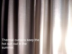 Thermal Curtains to cool your home
