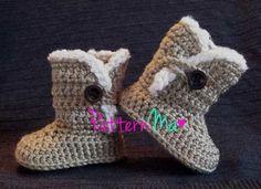 Botitas para bebé a crochet - Imagui