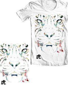 Tiger Stencil Print by greylulzlulz on Threadless