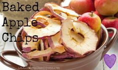 Baked Apple Chips - 21 Day Fix Recipes - Clean Eating Recipes Healthy Recipes - Side Dishes - Snacks - Lunch  weight loss - 21 Day Fix Meals - www.simplecleanfitness.com