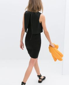 DRESS WITH COMBINED TOP