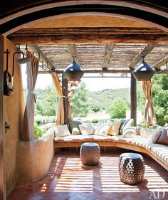 Bohemian Home ~ Outdoor Spaces Source: Architectural Digest Malibu Mansion, Malibu Homes, Bedroom Balcony, Home Bedroom, Bedroom Modern, Master Bedroom, Bedroom Decor, Interior Exterior, Home Interior