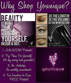 Browse, shop or join my team from my direct party link! If your looking for all natural products or a self rewarding chance with the fastest growing home based business, your guaranteed to love Younique Products!  https://www.youniqueproducts.com/emilywoznuk/party/377027/view