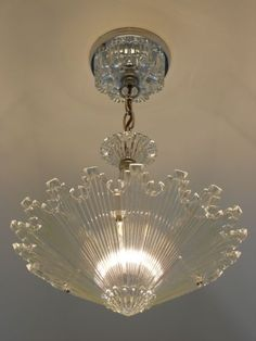 Vintage Art Deco Ceiling light fixture Chandelier American Antique Lamp, this is cool