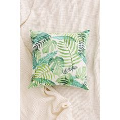Assembly Home Printed Palms Pillow (51 CAD) ❤ liked on Polyvore featuring home, home decor, throw pillows, green throw pillows, tropical palms, tropical palm trees, tropical throw pillows and green home decor