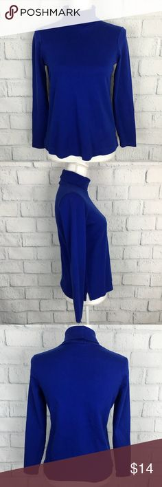 "Lands End | Royal Blue Turtleneck Shaped | S | B21 ♥️Buy 2 Get 1 FREE! - Work only you buy 2 of the ""REGULAR PRICE"" and FREE one will be the lowest price one that you pick from 3 of them♥️  ▪️Good Used Condition  ▫️ Women Sz S ▪️ smoke free - Dog friendly home ▫️Armpit to Armpit 18 inch. ▪️Top to Bottom 22 inch ▫️Armpit to end of Sleeve length 16.5 inch.  ✔️Photo's might make certain items or colors appear slightly different than it actually is due lighting. Lands' End Sweaters Cowl…"