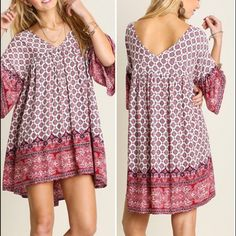 Bohemian tunic/dress Bohemian babe tunic/dress. 65% cotton 35% poly. Silky soft and light weight. Slightly oversized. PRICE FIRM UNLESS BUNDLED Boutique Dresses Mini