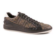 Fendi sneakers in Tobacco Calf leather and rubber sole - Italian Boutique €247