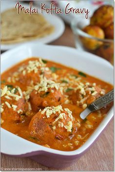 Malai Kofta | Malai Kofta Gravy Recipe - Restaurant Style. Cheese and veggie dumplings in a creamy tomato sauce