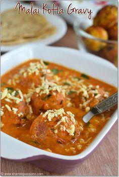 Malai Kofta | Malai Kofta Gravy Recipe - Restaurant Style. Cheese and veggie dumplings in a creamy tomato sauce