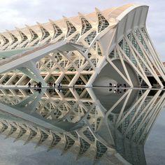 City of arts and science - by Architect, Santiago Calatrava - Valencia, Spain