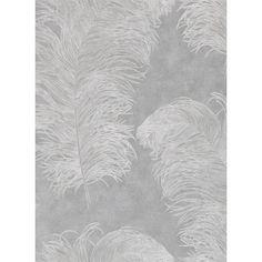 Straußenfeder - Mustertapete von Harlequin, VliestapeteHarlequins neue Kollektion Palmetto wurde inspiriert von frühmorgendlichen Spaziergängen durch taubenetzte Wälder und duftende Gärten in der Dämmerung. Es lassen sich sowohl der Glamour der Jazz-Ära, der Luxus der Zwanziger Jahre, der botanische Eifer des 19. Jahrhunderts sowie moderne Trends darin finden.Extravagante Straußenfedern vor texturiertem und metallisch glänzendem Hintergrund. Erhältlich in drei Farbgebungen.