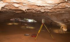 Radiocarbon hookup of fossils taken from caves on islands along southeastern