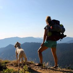"""There's nothing better than sharing a beautiful view with your dog. #campingwithdogs @wanderashes"""