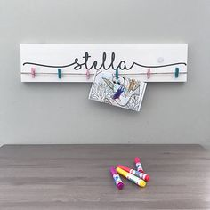 Look What I Made Sign  Personalized Name Nursery Decor