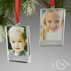 Personalized Photo Locket Christmas Ornaments  Lenox  Engraved