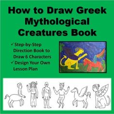 how to draw a greek sphinx step by step
