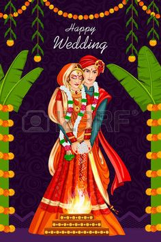 347 Indian Wedding Couple Cliparts, Stock Vector And Royalty Free Wedding Card Design Indian, Indian Wedding Couple, Indian Wedding Cards, Wedding Couples, Wedding Ideas, Wedding Couple Cartoon, Diy Wedding, Wedding Styles, Wedding Couple Photos