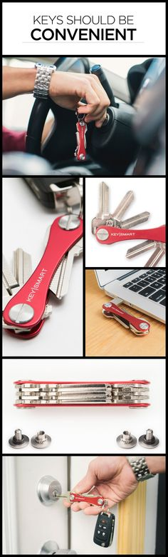 Never lose your keys again with the KeySmart Pro! It also includes a built-in flashlight and bottle opener. Get your KeySmart Pro now! Things To Buy, Good Things, Great Inventions, Smart Key, January 1, Organizing, Organization, Cool Tools, Cool Gadgets