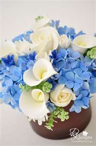soft : blue, white, with touch of green & pale yellow