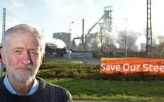 British opposition Labour Party leader Jeremy Corbyn poses for a photograph following a television interview near the Tata Steel steel works at Port Talbot, south Wales, on March 30, 2016.